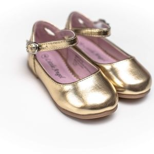 Little Angel Shoes - Little Angel Gold Toddler Girl Shoes Size 4